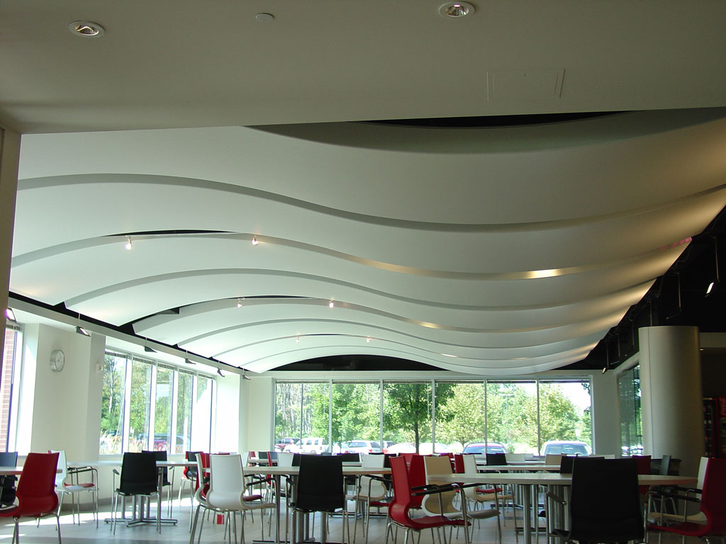 Corporate newmat stretch ceiling wall systems for Mercedes benz corporate office