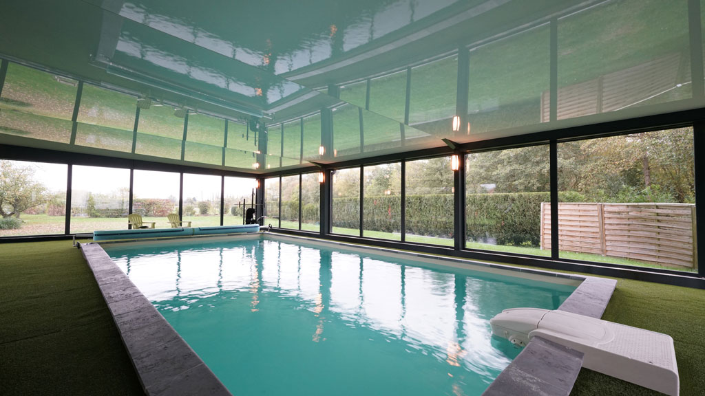 Private Residence Indoor Pool 2017 Merignies France Newmat Stretch Ceiling Wall Systems